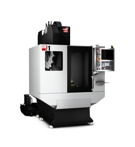 Mit seinen hohen Beschleunigungswerten, den schnellen Achsbewegungen und den kurzen Werkzeugwechselzeiten bietet sich das DM-1 in Verbindung mit der SK-40-Inline-Spindel als ein attraktives Bearbeitungszentrum an.