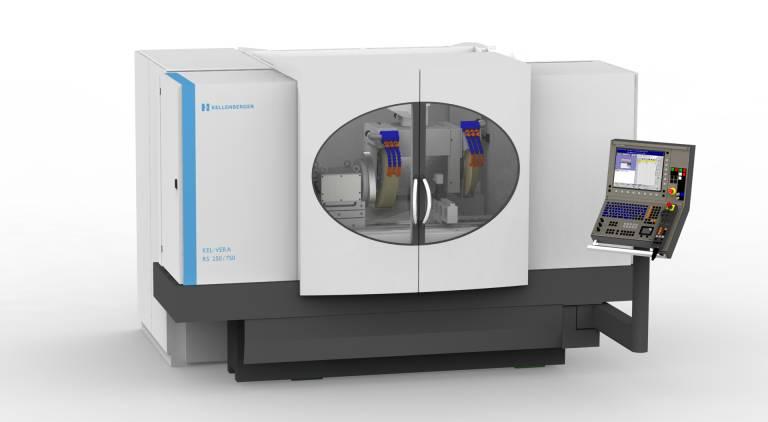 Kellenberger erweitert die Maschinenbaureihe KEL-VERA um die Baulänge 750 und eine schnelle, höchst präzise B-Achse. Hydrostatisch gelagert weist diese eine vierfach höhere Eilgangsgeschwindigkeit auf.