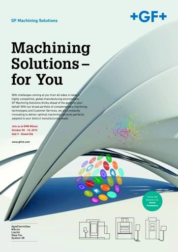 """Unter dem Motto """"Machining Solutions – for You"""" präsentiert GF Machining Solutions auf der EMO Werkzeug- und Formenbauern sowie Herstellern von Präzisionsteilen ein umfassendes Technologieportfolio, Prozesskompetenz und Customer Services."""