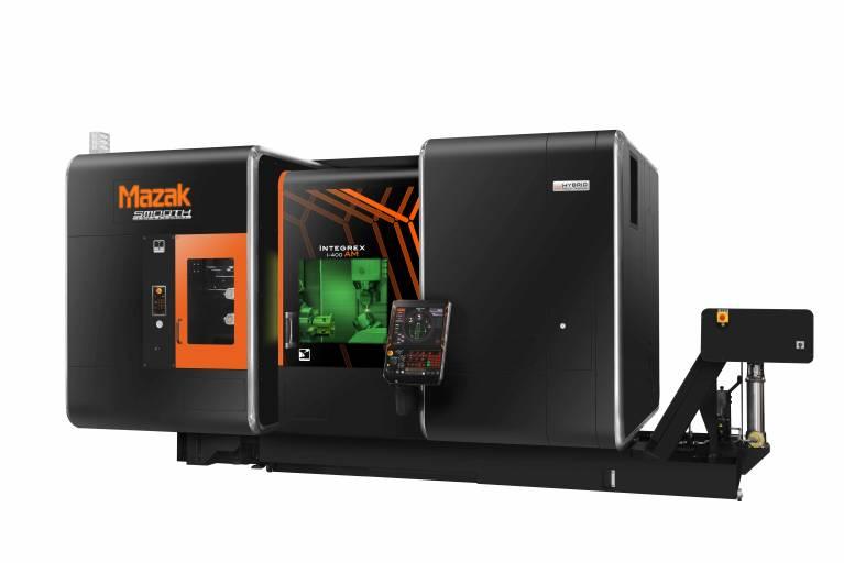 Mazak stellt unter anderem die neue INTEGREX i-400AM vor, wobei das AM für Additive Manufacturing steht. Damit können endkonturnahe Teile generativ gefertigt und dann mithilfe von Multi-Funktions-Technologie fertig bearbeitet werden.