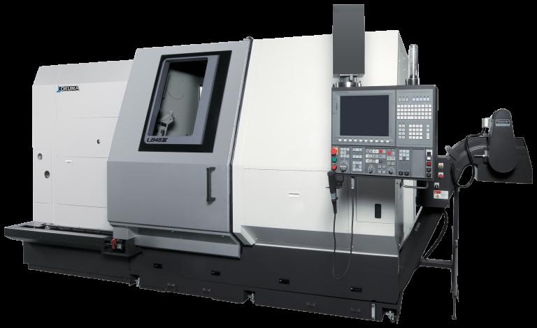 Okumas neueste, horizontale Drehmaschine LB45III eignet sich für die Bearbeitung sperrigster Werkstücke.