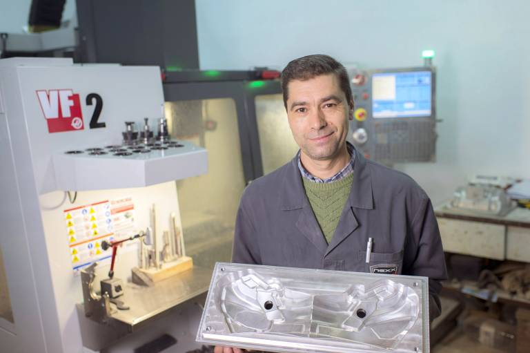 Nexx benutzt die Haas VF-2 für das Fertigen von Aluminium- und Stahlformen. Zudem wird die Maschine für die eigene Prototypenfertigung eingesetzt.
