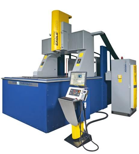 An der neuen Automationszelle mit MultiChange flexible wurde von OPS-Ingersoll auf der EMO in Mailand auch die GANTRY EAGLE 1400 präsentiert.