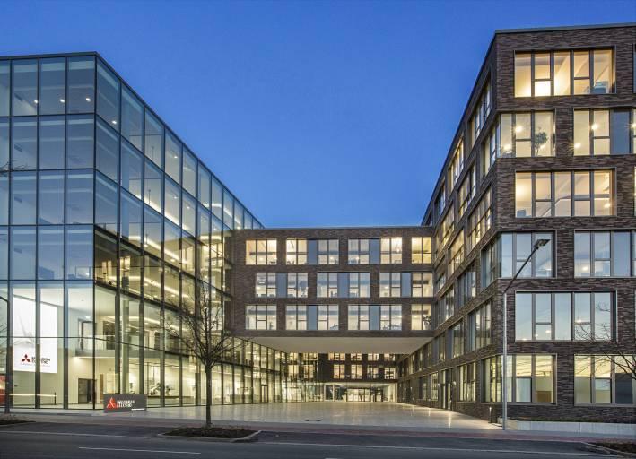 Die neue Deutschland-Zentrale in Ratingen von Mitsubishi Electric.