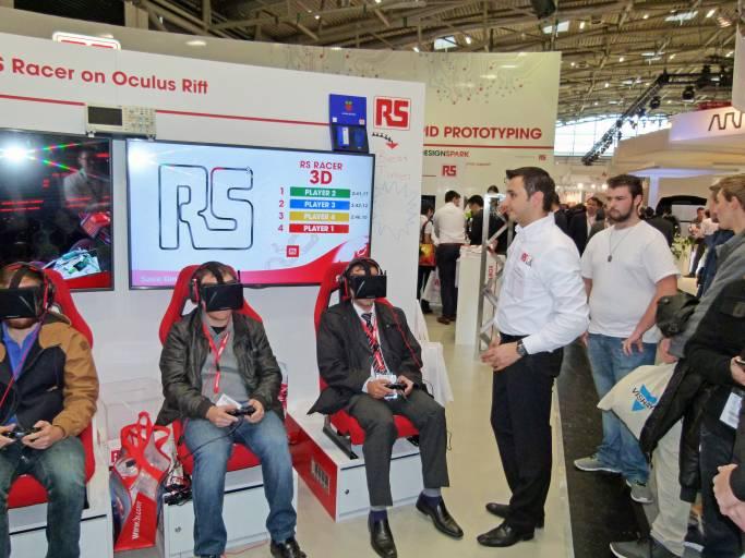 Schon auf der electronica 2014 wagte RS Components einen Ausblick in die Zukunft der Virtual Reality.