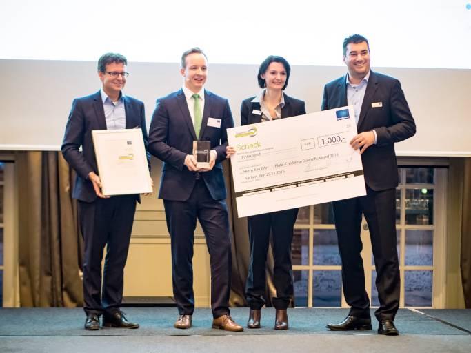 Kay Erler gewinnt mit seiner Masterarbeit über QM im Bereich Automotive den ConSense ScientificAward 2016.
