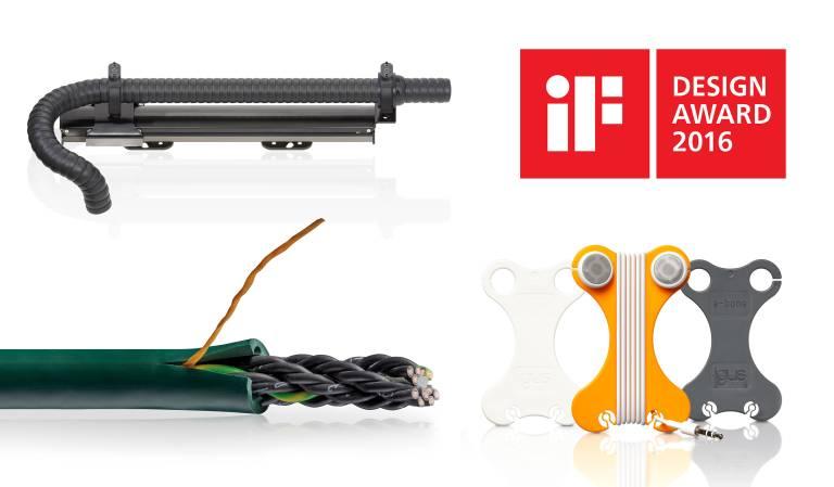 Drei Produkte von igus haben in diesem Jahr die Auszeichnung des iF Design Awards für innovatives Produktdesign erhalten.