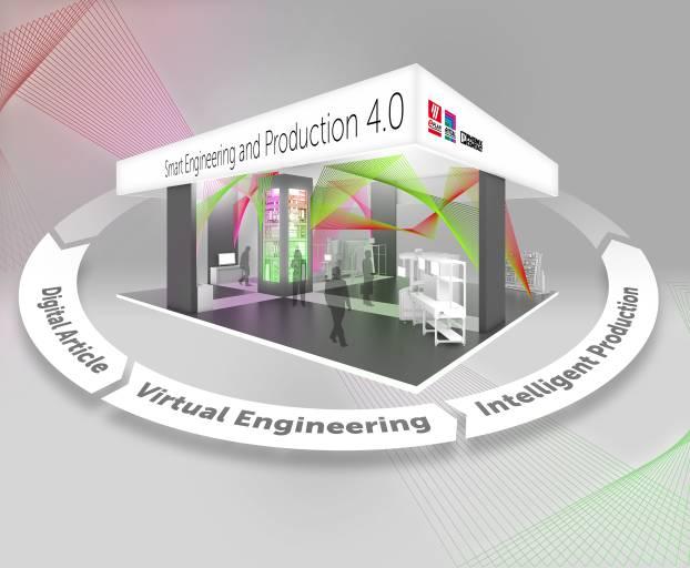 Smart Engineering and Production 4.0, unter diesem Motto präsentieren Eplan, Rittal und Pheonix Contact, wie Produktdaten entstehen, für die Erstellung von virtuellen Prototypen genutzt und über standardisierte Schnittstellen bis in die Fertigung weitergereicht werden.