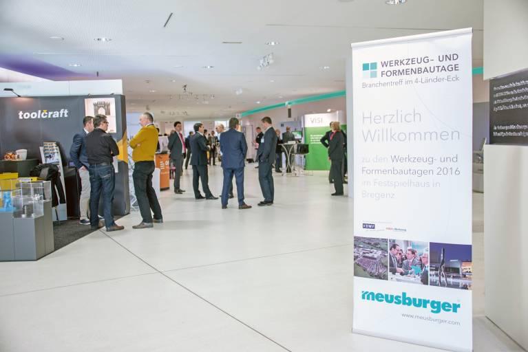 Die Premiere der Meusburger Werkzeug- und Formenbautage konnte täglich mehr als 200 Besucher verzeichnen. (Bild: Meusburger)
