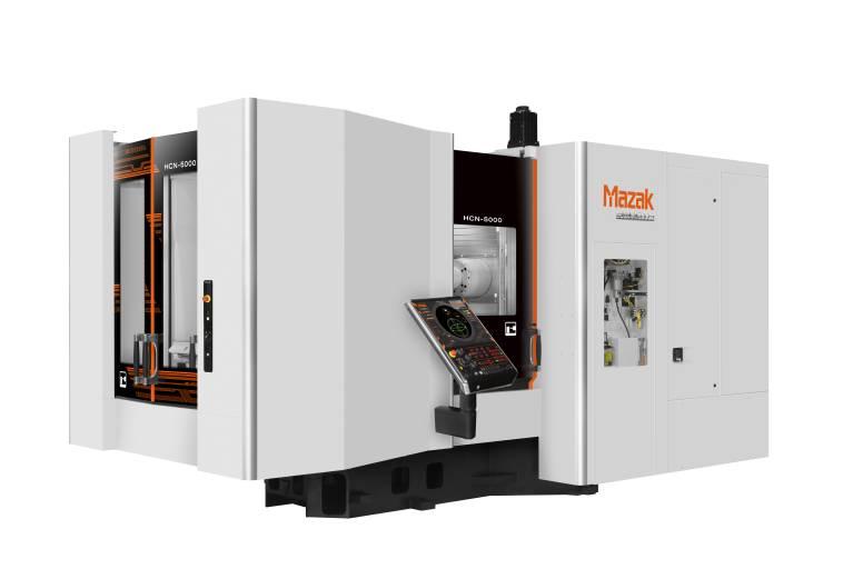 Die zwei neuen horizontalen Bearbeitungszentren der HCN 5000-Serie sind mit der neuen CNC-Steuerung des Typs SmoothG ausgestattet.