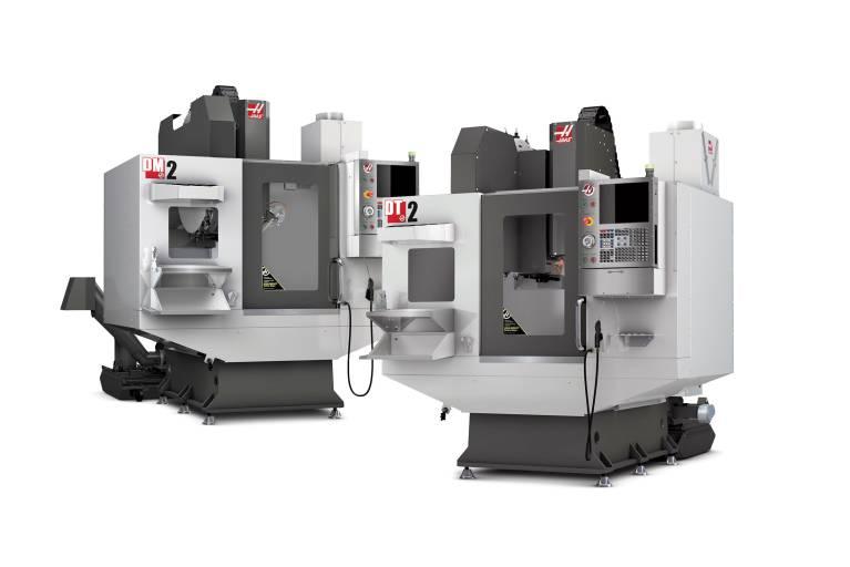 Haas erweitert seine Bohr-/Gewindebohr-/Fräs-Produktlinie durch die DT-2 und die DM-2 Hochgeschwindigkeitszentren.