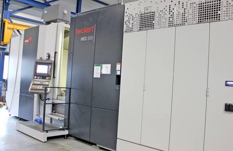 Das Heckert Fräs-/Dreh-Zentrum HEC 800 HV MT bietet mit den Verfahrwegen in X = 1.350 mm, in Y = 970 mm und in Z = 1.300 mm viel Platz für große Bauteile. (Bilder: Heckert).