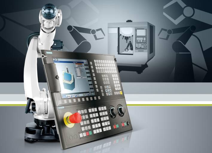 Siemens ermöglicht nun auch mit den Sinumerik 828-Steuerungen die einfache Anbindung von Robotern an Werkzeugmaschinen für den Aufbau automatisierter Zellen.