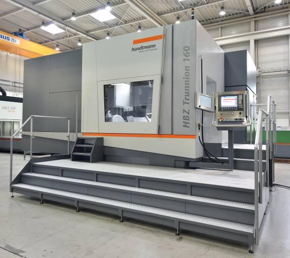 """HBZ Trunnion 160 – Die """"Größte"""" aus der HBZ Trunnion Baureihe wird auf der AMB mit einer Hochleistungsspindel (30.000 U/min, 81 kW) als Spezialist für Aluminiumbearbeitung präsentiert."""