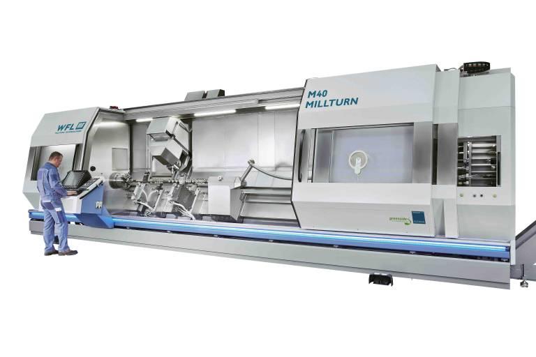 Komplettbearbeitung neu definiert: Im neuen Design und mit längerer Spitzenweite von 4.500 mm feiert die M40 MILLTURN Premiere auf der AMB.