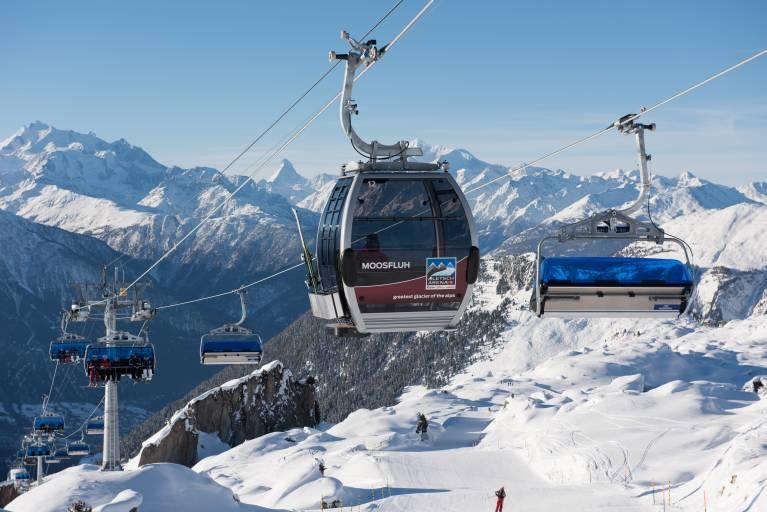 Die Kombibahn verbindet alle Vorteile einer kuppelbaren Gondelbahn mit jenen einer kuppelbaren Sesselbahn. (Bildhinwies: Doppelmayr Seilbahnen GmbH)