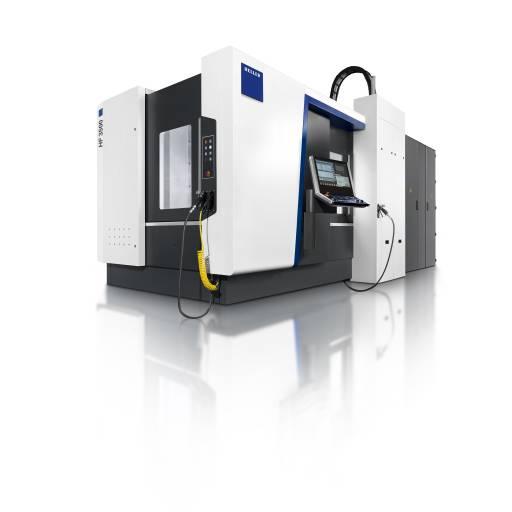 Die Bearbeitungszentren der Baureihe HF sind mit einer fünften Achse im Werkstück sowohl für eine dynamische 5-Seiten-Bearbeitung wie für die simultane 5-Achs-Bearbeitung ausgelegt.