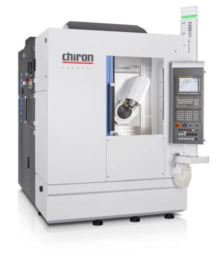 Mit einem Platzbedarf von drei Quadratmetern ist das Dreh-Fräszentrum Chiron FZ08 MT PRECISION+ die kompakte Lösung für flexible und wirtschaftliche Teilebearbeitung von der Stange oder für Futterteile.
