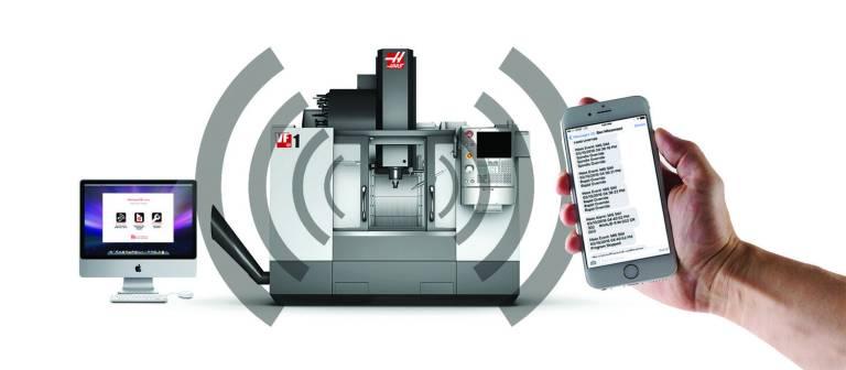 Das mobile Überwachungssystem HaasConnect unterstützt alle Maschinen von Haas, auf denen die Steuerung der nächsten Generation (NGC-Version 100.16.000.1001 oder höher) installiert ist und die an ein Netzwerk angeschlossen sind.