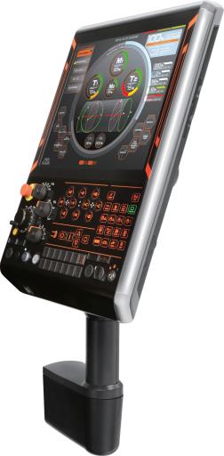"""Die Bedientafel ist trotz ihres großen 19"""" Touchscreens um 36 % kleiner als beim Vorgängermodell und wurde in Zusammenarbeit mit dem Industriedesigner Ken Okuyama konzipiert."""