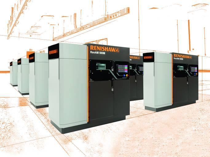 Das neue generative Fertigungssystem RenAM 500M von Renishaw wurde speziell für die industrielle Serienfertigung komplexer Metallkomponenten entwickelt. (Bilder: Renishaw und Komet)