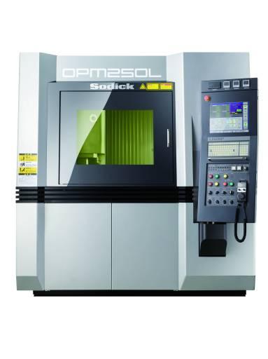 Die OPM250L hat einen Bauraum von 250 X 250 X 250 mm³ und wird von einem 500 W Yb-Faserlaser gespeist.