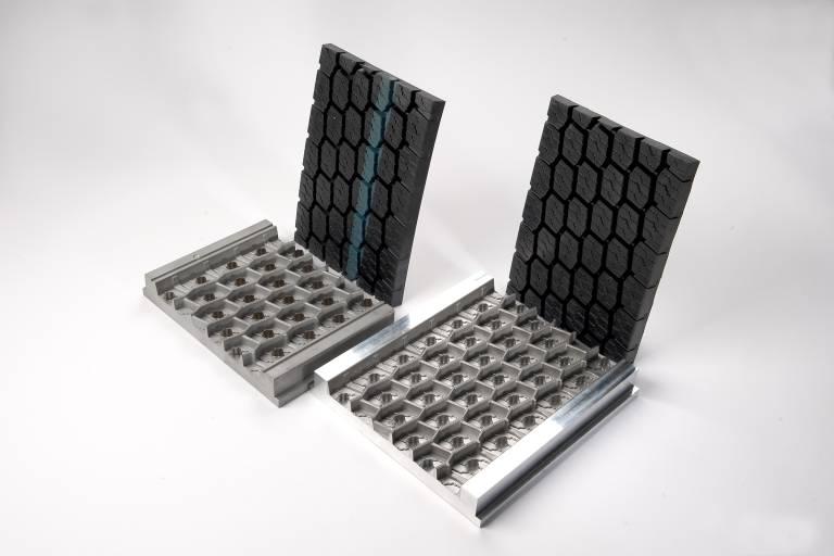Die Kraiburg-Reifenformen werden mittels Selective Laser Melting- Technologie hergestellt.