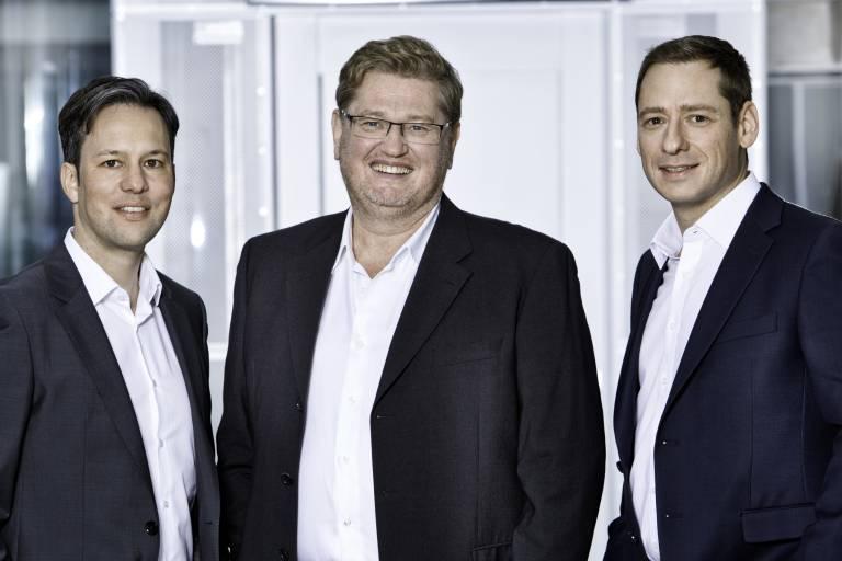 Gut aufgestellt für die Zukunft – die neue Copa-Data Geschäftsleitung (v.l.n.r.): Phillip Werr, (CMO/COO), Thomas Punzenberger (CEO) und Stefan Reuther (CSO).
