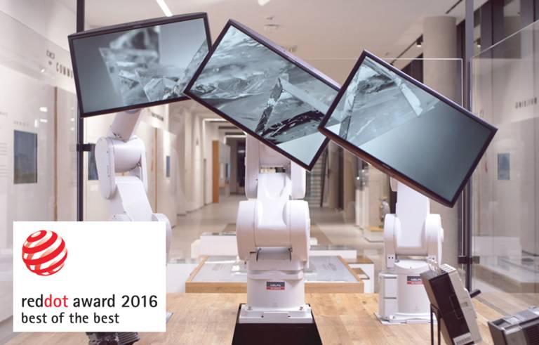 """Gleich mehrere Auszeichnungen hat das Ausstellungskonzept """"The World of Mitsubishi Electric"""" mit den """"Threebots"""" bereits erhalten."""
