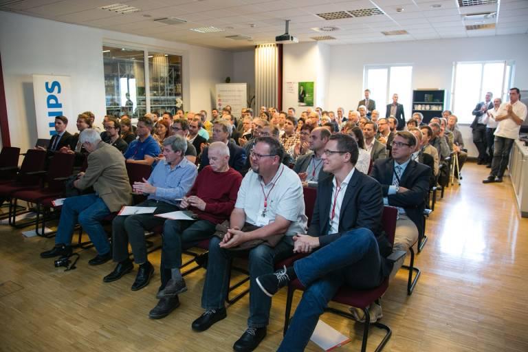 Volles Haus im Rexel Austria Distribution Center in Weißkirchen – über 100 Gäste folgten der Einladung.