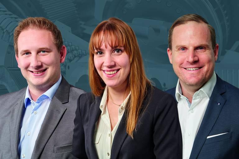 Mit 3-fach neuer Team-Power geht TAT ins neue Jahr und baut so ihren Service-Charakter aus (v.l.n.r.): Stefan Abel, Jarmila Kocianová und Oliver Gumpinger.