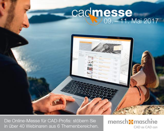 Vom 09. bis 11. Mai lädt Mensch und Maschine auch in diesem Jahr wieder zur online cadmesse ein.