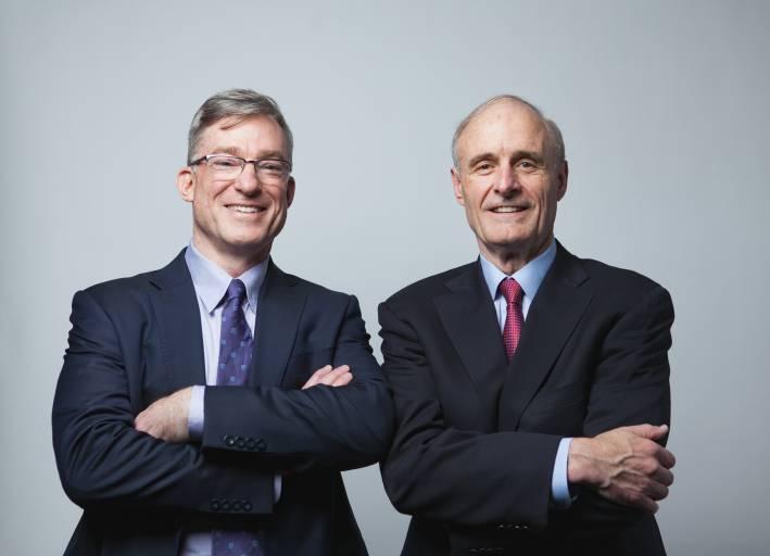 Rockwell Automation gibt die Ernennung von CEO Blake Moret (rechts) zum Vorstandsvorsitzenden bekannt.
