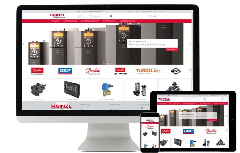 Der neue Hainzl WebShop (www.hainzl.at/shop) umfasst aktuell über 7400 Produkte aus den Bereichen Antriebstechnik, Hydraulik, Elektrotechnik, Industriearmaturen und Zentralschmierungen. Das Produktangebot wird laufend erweitert.