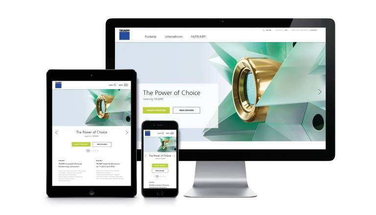 """Der Relaunch der neuen Website erfolgt in 17 Sprachen und 24 Landesversionen. Das Design der neuen trumpf.com ist responsive und folgt der Devise """"mobile first""""."""