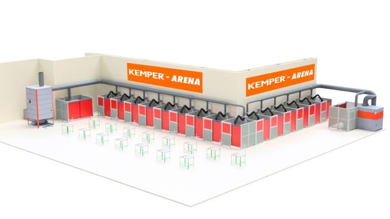 In der Kemper-Arena können interessierte Schweißer die neuesten Schweißgeräte namhafter Hersteller und Absaugtechnik von Kemper testen.