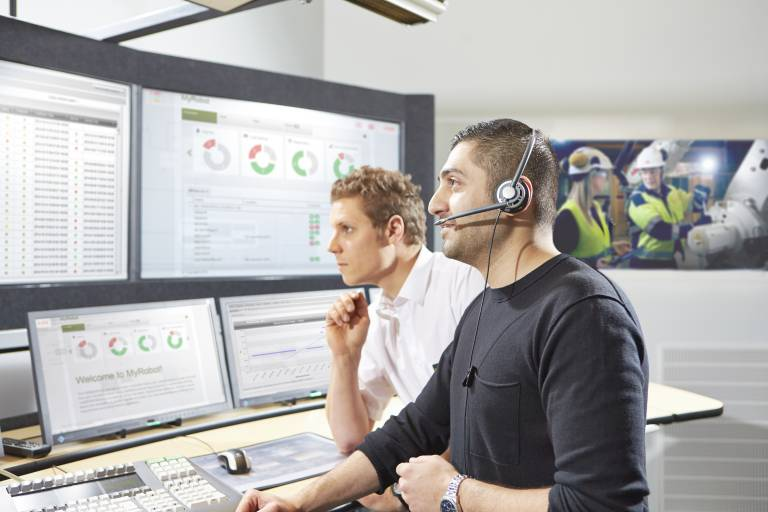 Dank Connected Services von ABB wird ein zuvor reaktiver Ansatz bei der Wartung des Roboterbestandes von einem vorausschauenden, proaktiven und unmittelbaren Ansatz abgelöst.