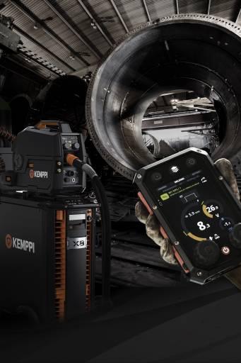 Der X8 MIG Welder von Kemppi ist ein aufrüstbares Multiprozesssystem, das durch seine Konnektivität und die leistungsfähige Software für die Anforderungen von Industrie 4.0 gerüstet ist