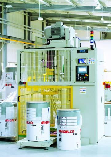 Eine neue Werkshalle bei Migal.Co wurde mit modernsten Drahtproduktionsmaschinen ausgerüstet.