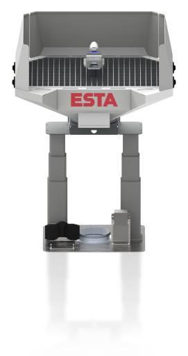 Der neue Absaugtisch von Esta ist 360° um die eigene Achse drehbar.