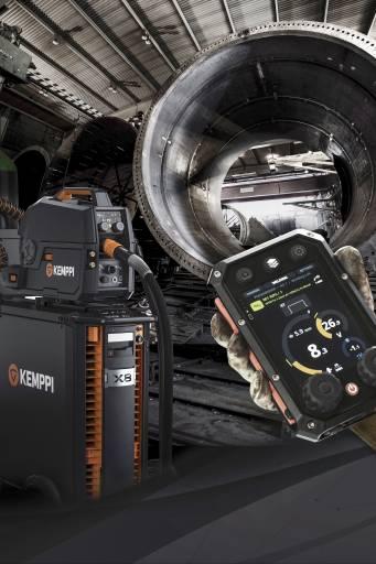 Zusammen mit dem Kemppi X8 MIG Welder ermöglicht WeldEye die Nutzung der zukunftsweisenden digitalen WPS und macht somit gedruckte Schweißanweisung überflüssig.