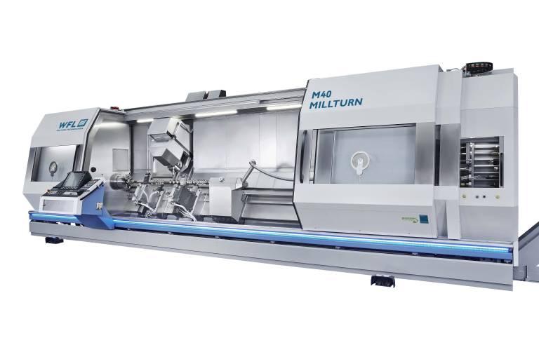 Komplettbearbeitung auf höchstem Niveau: Die M40 MILLTURN im neuen Design und mit längerer Spitzenweite von 4.500 mm.