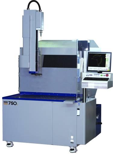 Die NSD 750K bietet einen Bearbeitungsraum aus Granit, mit 700 x 450 x 360 mm (X/Y/Z) große Verfahrwege sowie entsprechend Elektroden- und Führungswechsler um abwechslungsreiche Aufgaben konstant zu bewältigen.