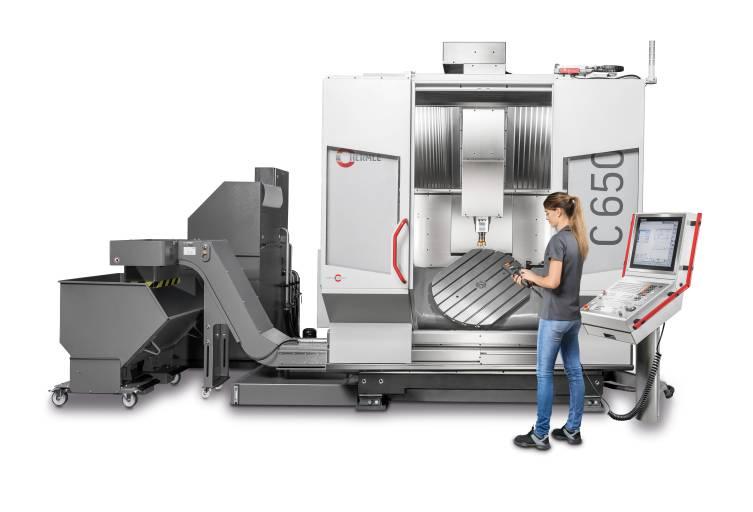 Mit der C 650 präsentiert Hermle ein neues Bearbeitungszentrum für unterschiedlichste 3- und 5-Achs Bearbeitungen.