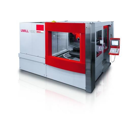 Die neue Umill 1500 von Emco Mecof – ein 5-Achs-BAZ mit kompakten Abmessungen, welches im Werkzeug- und Formenbau, dem allgemeinen Maschinenbau, in der Lohnfertigung und der Luftfahrt zum Einsatz kommen soll.