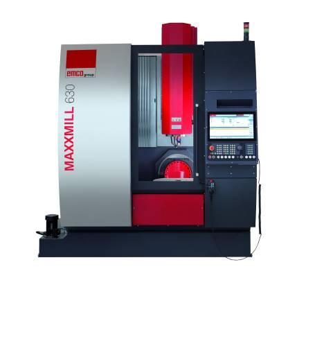MAXXMILL 630: Vertikalfräszentrum für die 5-Seiten-Bearbeitung von Werkstücken in kleinen oder mittelgroßen Losgrößen.