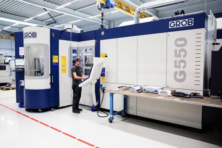 Neuestes Prunkstück bei Stark Spannsysteme ist eine Grob G550, die unter anderem für eine automatisierte, wirtschaftliche und hochpräzise Herstellung von Schnellverschlussplatten in einer Aufspannung verantwortlich ist.