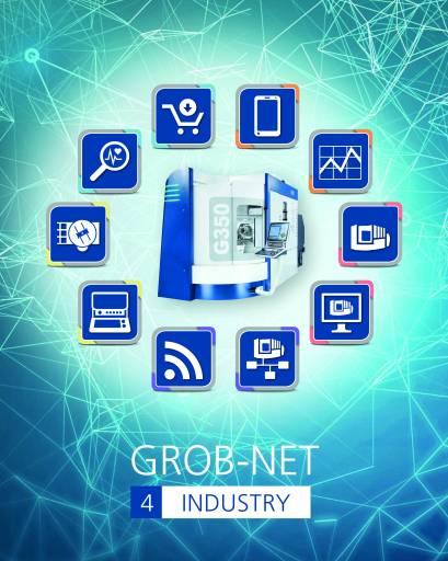 Die von Grob eigens entwickelten Module innerhalb von GROB-NET⁴Industry dienen zur Vernetzung und Digitalisierung von Produktionsprozessen und ermöglichen dadurch eine papierlose Kommunikation.