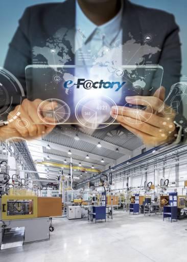Das Grundgerüst für den Prozess der digitalen Transformation auf der Fertigungsebene liefert das e F@ctory Konzept von Mitsubishi Electric.