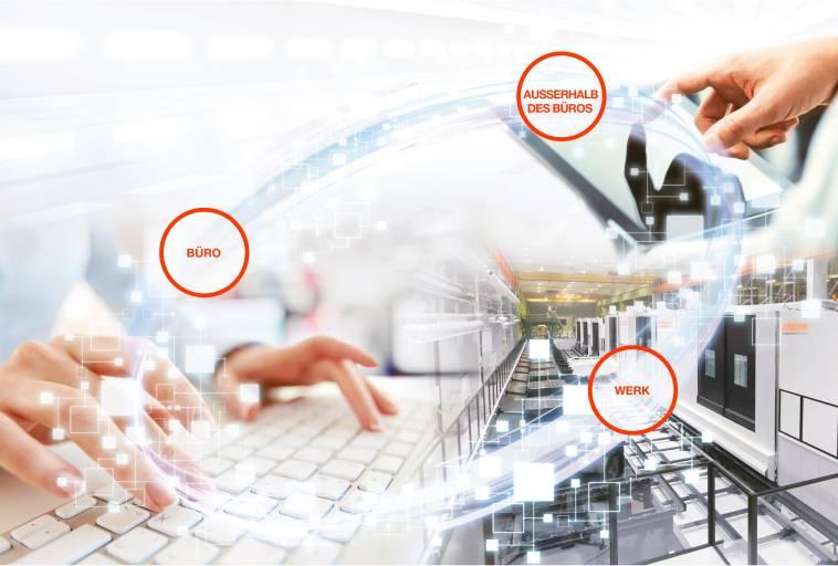 In einer nach dem Konzept der Industrie 4.0 ausgelegten Fabrik wird jeder einzelne Aspekt der Produktion miteinander vernetzt, überwacht und analysiert. Ziel ist es, bei geringeren Nebenzeiten eine höhere Produktivität und eine bessere Produktgüte zu erzielen.